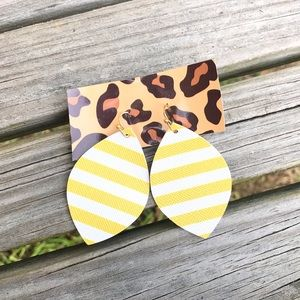 Jewelry - SOLD OUT ✨NEW✨Yellow Striped Earrings!